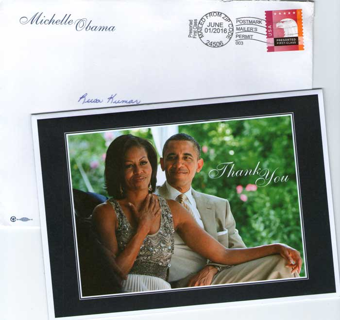 First-Lady-USA-Michelle-Obama-expresses-her-THANKS-to-Rewa-Kumar